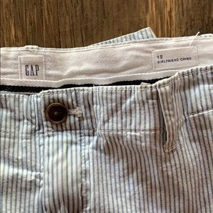 GAP Pants - GAP girlfriend striped chino